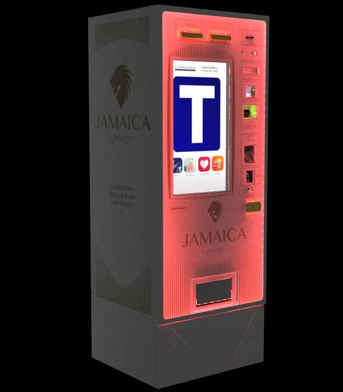 Laservideo Laservideo jamaica distributore automatico sigarette destra night red - Distributore automatico di sigarette