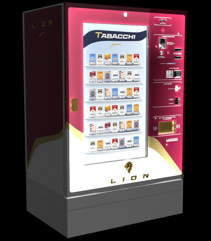 Laservideo Laservideo lion fullspace sx rosso night r00 - Distributore automatico di sigarette