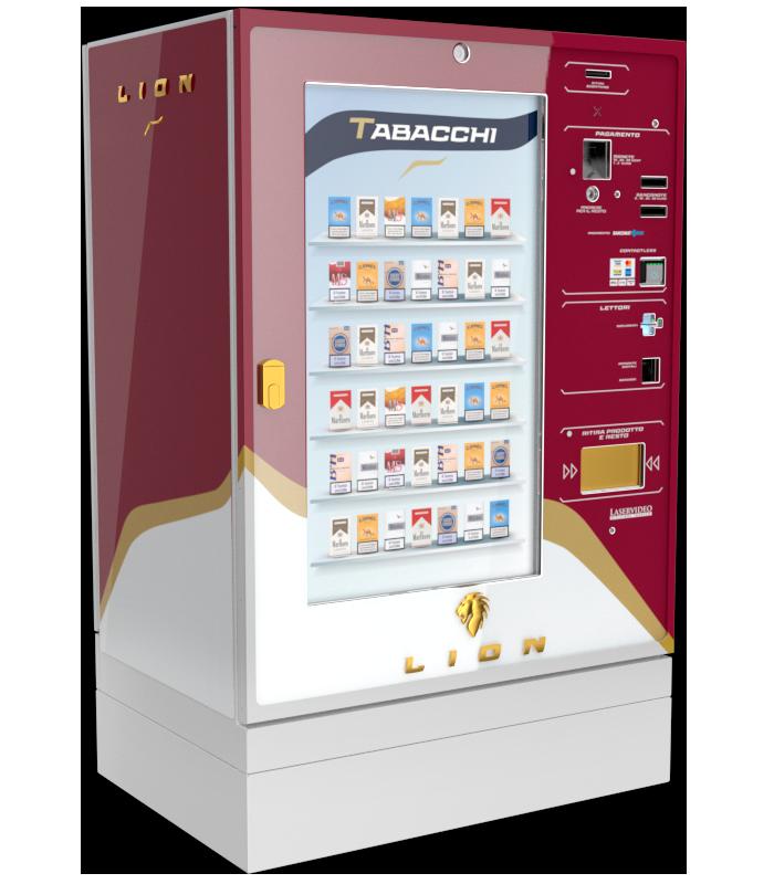 Laservideo Laservideo lion fullspace sx rosso r00 - Distributore automatico di sigarette